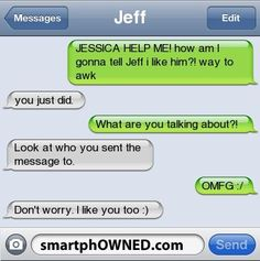 Sometimes texting the wrong person something embarrassing has its perks! #ad