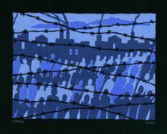 Shoah | Jewish #papercut art at http://www.hebrica.com/
