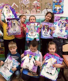 Winter Art Projects, Handprint Art, Kids Artwork, Art Lessons Elementary, Art Lesson Plans, Art Classroom, Creative Kids, Art Plastique, Teaching Art