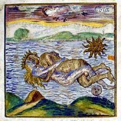 """Illustration 5: """"Conception or Putrefaction"""" Rosarium Philosophorum"""