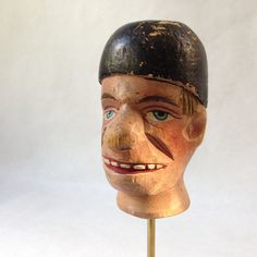 RESERVED FOR S vintage folk art head by sophisticatedflorida