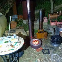 焚き火缶風ロケットストーブの試作テスト|趣味工作の便利屋:あなたの困っているものづくり・試作を応援します