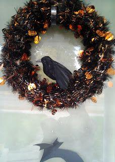 Easy Dollar Store Halloween Wreath