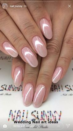 Bries Hochzeit - Rezepte - french tip nails Gorgeous Nails, Pretty Nails, Gradiant Nails, Pink Nails, My Nails, Crome Nails, Pearl Nails, Wedding Nails Design, Wedding Manicure