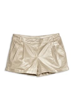 @_Costablanca Gold pleated shorts #spring2013 #shorts