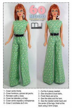 Vêtements de poupée avec ses mains | World of Dolls | VK Sewing Barbie Clothes, Barbie Sewing Patterns, Doll Dress Patterns, Clothing Patterns, Costume Toy Story, Doll Costume, Handmade Clothes, Diy Clothes, How To Make Clothes
