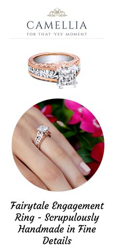 Check this art deco moissanite engagement ring from Camellia Jewelry. Scrupulously handmade in fine details. Vintage Style Engagement Rings, Princess Cut Engagement Rings, Beautiful Engagement Rings, Engagement Ring Cuts, Vintage Rings, Beautiful Rings, Jewelry Tattoo, Rings For Her, Filigree Ring