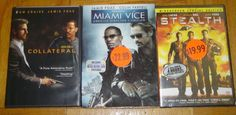 Jamie Foxx in Collateral Miami Vice & Stealth 3 New DVD Set Sealed in Plastic  I will be listing many DVD's so please  Check out my other items!