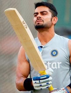 Virat Kohli - Daring, tough and fiercely talented. For his rare pictures click http://mocricket.com/
