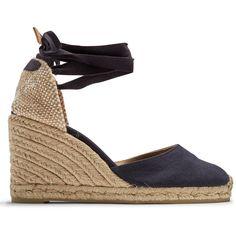 e0e8d7e54d8 Castañer Carina canvas wedge espadrilles ( 72) ❤ liked on Polyvore  featuring shoes