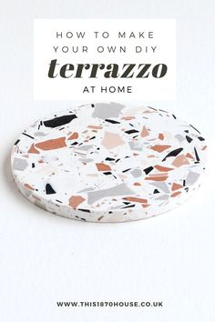 This guide will walk you through how to create your own stylish terrazzo coasters - or anything else you can dream up! Diy Resin Art, Diy Clay, Resin Crafts, Diy Art, Fun Crafts, Paper Crafts, Azulejos Diy, Concrete Crafts, How To Make Diy