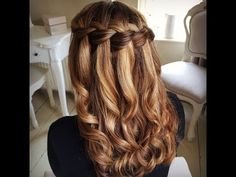 Waterfall Braid by SweetHearts Hair Design - YouTube