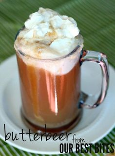 Butterbeer with Salted Butterscotch Sauce.  I can't wait to try Kate's recipe- my kids are going to love me pullin' out the Harry Potter tonight!
