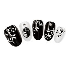 Nicedeco  Beautiful  Fun  Colorful  Fashion nail stickerstattoodeacl water transfer Decals BlackWhite Leaf  Swirls Pattern Greatly Positive Feedback From Buyer ** You can find out more details at the link of the image.
