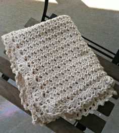 Sewing Blankets Free Pattern - Duchess Baby Blanket from Designing Crochet - The duchess baby blanket is a free crochet pattern that uses the duchess lace stitch and a lacy edging for a sophisticated baby gift. Crochet Blanket Patterns, Baby Blanket Crochet, Crochet Stitches, Crochet Baby, Free Crochet, Knit Crochet, Knitting Patterns, Crochet Blankets, Crochet Afghans