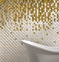 raining gold tiles  Would be pretty in other colours too, like purple and blue...