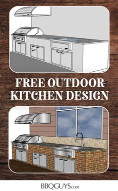 Find outdoor kitchen inspiration with our outdoor kitchen designs and plans. Find tips and articles on outdoor planning and use the design sketching tool to create your dream outdoor kitchen. Outdoor Kitchen Plans, Outdoor Kitchen Design, Outdoor Bar And Grill, Outdoor Refrigerator, Grill Brands, Kitchen Design Gallery, Kitchen Equipment, Service Design, Outdoor Living