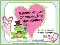 Common Core Math Games for Valentines Day - Get your centers ready for Valentines Day with this set of five Common Core math games for first grade! Resource value: $3.50.  A GIVEAWAY promotion for Valentines Day Common Core Math Games from PrimaryInspiration on TeachersNotebook.com (ends on 1-23-2014)