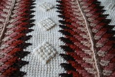 Afghan crochet blanket with trangle pattern. by irynabat25 on Etsy