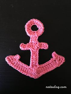 ♥︎Step-by-step Free Crochet Tutorial♥︎ Bigger anchor motif for summer