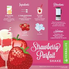 Strawberry parfait herbalife shake recipie