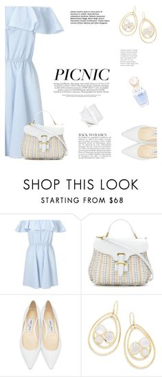 """Picnic Time"" by katsin90 ❤ liked on Polyvore featuring Miss Selfridge, Serpui, Jimmy Choo, Ippolita, Anja, Marc Jacobs and Far + Wide Collective"