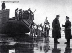 Training for Operation Sealion: Practicing with a landing ship on a beach near Calais. Operation Sea Lion, Landing Craft, Battle Of Britain, Luftwaffe, World War Two, Ww2, Denmark, Belgium, Norway