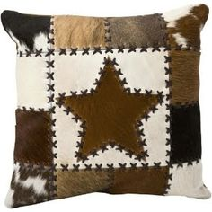 Cow hide pillow/ throw at scheels Western Decor, Country Decor, Cowhide Pillows, Throw Pillows, Cat Colors, Cow Hide, Leather Projects, Barn Quilts, Color Themes
