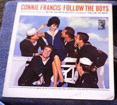 Connie Francis FOLLOW THE BOYS LP Album - Vinyl, MGM Records E/SE - 4123 #FilmScoreSoundtrack