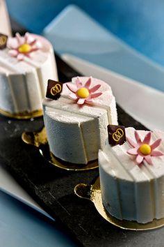 Pâtisserie Gourmet Desserts, Mini Desserts, Just Desserts, Dessert Recipes, Plated Desserts, Fancy Cakes, Mini Cakes, Petit Cake, Decoration Patisserie