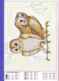 Cross-stitch Owls...    Gallery.ru / Фото #79 - Disenos de animales en punto de cruz - anfisa1