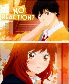 ♡Kou & futaba♡ when Kou told Futaba that her hair smells nice xD best anime ever