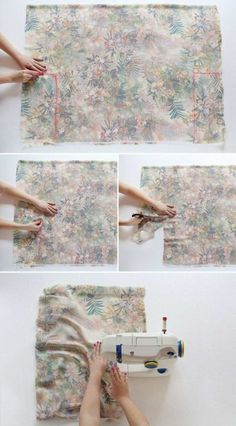 How to make a kimono jacket in 30 minutes - trend summer 2015 Coin Couture, Couture Sewing, Sewing Machine Projects, Sewing Projects For Beginners, Sewing Clothes, Diy Clothes, Wie Macht Man, Couture Outfits, Creation Couture