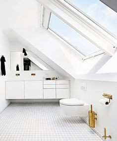 Are you a homeowner looking for a way to create an escape space for yourself in the comfort of your own home? Loft Bathroom, Bathroom Interior, Small Bathroom, Bathroom Storage, Bathrooms, Attic Renovation, Attic Remodel, Escape Space, Attic Bedroom Small
