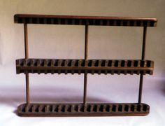 Wooden CD/DVD storage rack / display, Teak wood, KALMAR by RebeccasVGVintage on Etsy