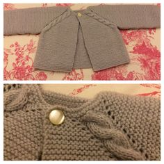 Norwegian Fir, Top down cardig Baby Knitting Patterns, Knitting For Kids, Crochet For Kids, Baby Patterns, Knitting Projects, Knit Crochet, Tricot Baby, Baby Barn, 2nd Baby