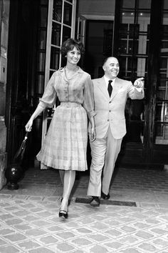 Sophia Loren And Carlo Ponti At Christian Dior'S 1958 Vintage Photos, Winged Victory Of Samothrace, Last Tango In Paris, Lena Horne, Janet Leigh, Tony Curtis, Katharine Hepburn, Fred Astaire