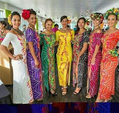 239 Likes 3 Comments South Pacific Islanders ( on Instagr Island Wear, Island Outfit, Hawaiian Party Outfit, Aloha Party, Samoan Dress, Island Style Clothing, Luau Outfits, Hawaiian Fashion, Polynesian Designs
