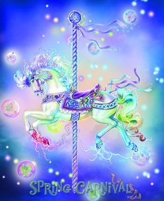 Beautiful Fantasy Art, Beautiful Fairies, Beautiful Horses, Unicorn Fantasy, Unicorn Art, Fantasy Creatures, Mythical Creatures, Spring Carnival, Horse Cards