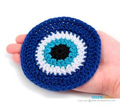 Drink Coasters 3 Pieces Crochet Evil Eye