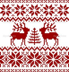 traditional norwegian patterns - christmas cross stitch and hama