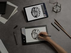 Draw like you always have. With your favorite paper and pencil, your drawings come to life on screen