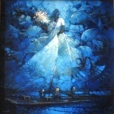 Iemanjá noturna, 2015 Armando Romanelli (Brasil, 1945) óleo sobre tela,  60 x 60 cm www.romanelliart.com