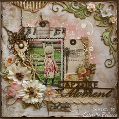 Layout: Capture The Moment **The Scrapbook Diaries ~ Video Tutorial & Kit Page**
