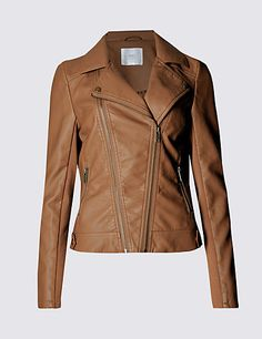 Faux Leather Biker Jacket | M&S