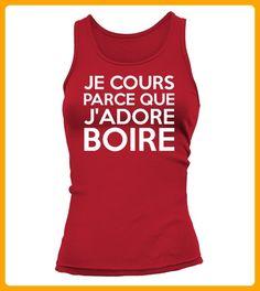 Je cours parce que jadore boire - Läufer shirts (*Partner-Link)