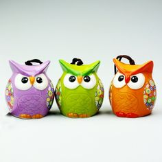 Wise Owl, Bowl Set, Biscuit, Pottery, Crafts, Plastering, Owls, Sculptures, Hand Painted Pottery