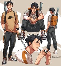 Character Concept, Character Art, Concept Art, Cute Art Styles, Guy Drawing, Drawing Reference Poses, Cute Anime Boy, Art Studies, Character Design Inspiration