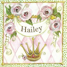 Personalized Princess Custom Canvas from PoshTots