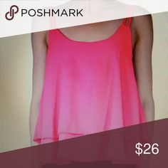 """**CCO SALE** NWT Spaghetti straps tank Super cute spaghetti straps layered tank top. Lightweight material. Great summer color. Rose Red color. XS 31-35"""" bust and 24"""" length  Small 32-37"""" bust and 24"""" length  Medium 34-39"""" bust and 24"""" length Eye Candy Tops"""